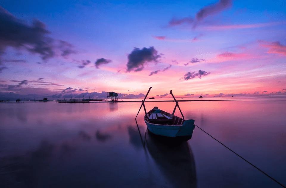 beautiful landscape photo taken during sunset