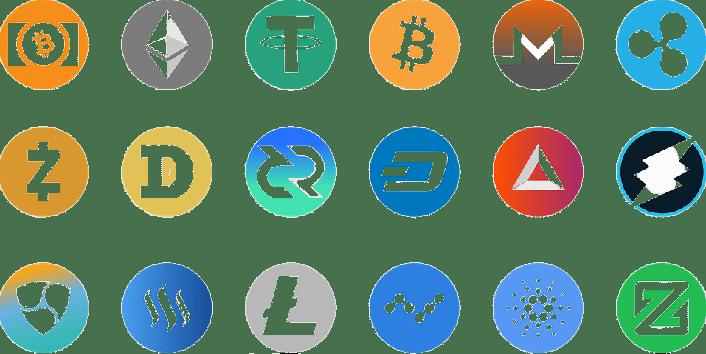 icons, symbols, different colors of symbols, letters